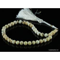 WHITE Islamic 33 Baltic amber prayer ROUND beads