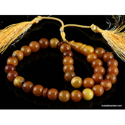 Islamic 33 Baltic amber prayer ROUND beads