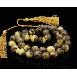 Islamic 33 Baltic amber Prayer 13MM ROUND beads