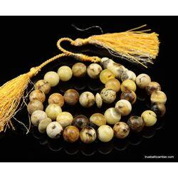 Islamic 33 Baltic amber Prayer 11MM ROUND beads
