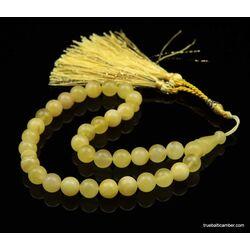 Islamic 33 BUTTER Baltic amber Prayer ROUND beads
