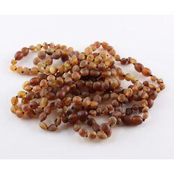 10 Raw Cognac BEANS Baltic amber adult bracelets 18cm