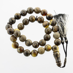 Massive Islamic 33 Prayer ROUND Baltic amber 15MM beads